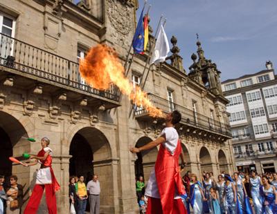 La fiesta de Arde Lucus se vive en la calle, son días de romanos y celtas, en las que todo hace alusión a la época.