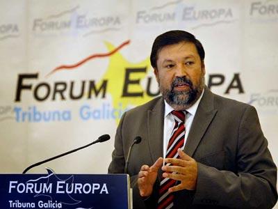 El ministro de Justicia, Francisco Caamaño, ha participado esta mañana en el desayuno informativo del 'Fórum Europa' en Galicia./EFE