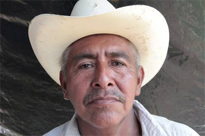 Cornelio Flores, líder de la Comunidad Brisas de Samala.- ALBERTO ARCE