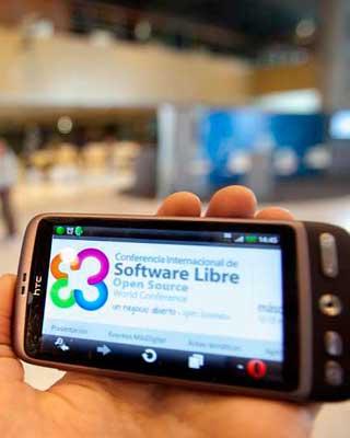 Jornadas de software libre en Granada.