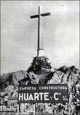 El Valle de los Caídos durante su construcción