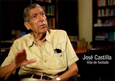 José Castilla, hijo de fusilado. Fotograma del documental 'El precio de la derrota' editado por la asociación Rocamar.