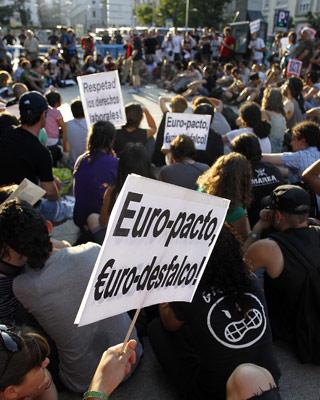 Protesta del 15-M.