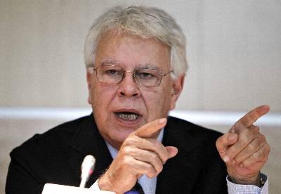 Imagen de archivo del expresidente del Gobierno Felipe González.EFE