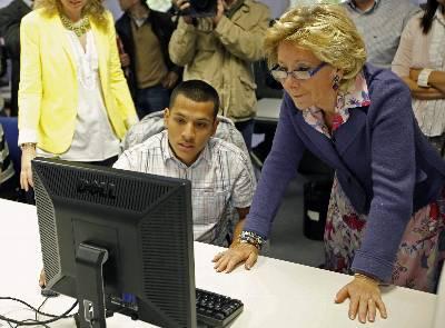 Esperanza Aguirre en un acto público el pasado 21 de mayo.
