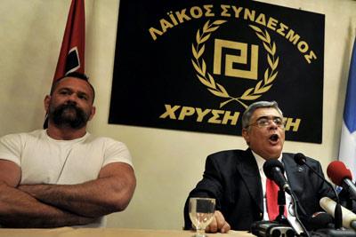El líder del partido nenonazi griego Amanecer Dorado, Nikos Michaloliakos. - EFE