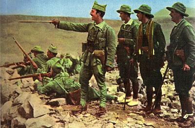 Franco, en la guerra del Rif.