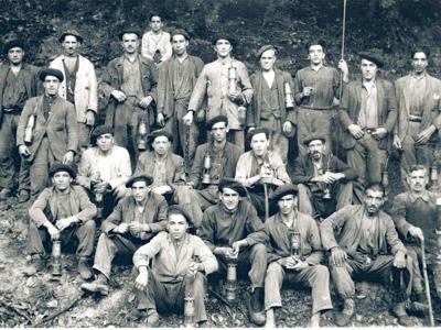 Mineros asturianos en 1934
