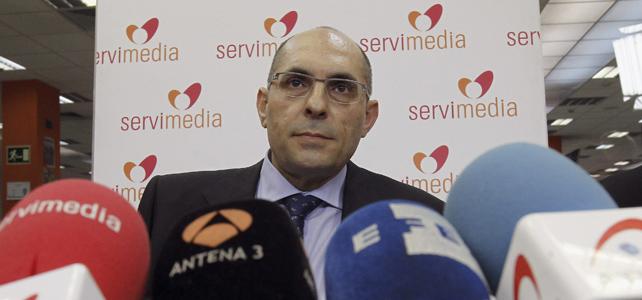 El juez Elpidio José Silva durante la rueda de prensa en la que ha explicado las novedades del procedimiento abierto contra él en el Tribunal Superior de Justicia de Madrid.- EFE