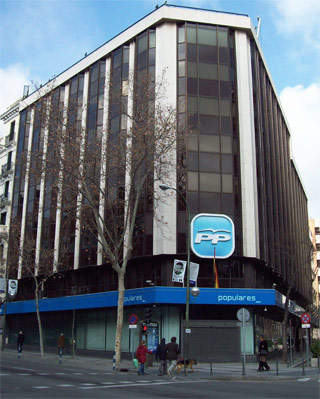 Sede central del PP en la calle Génova de Madrid. -WIKIPEDIA