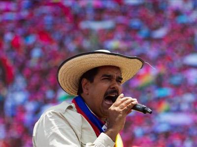 Nicolás Maduro en un acto electoral hace unos meses/Efe