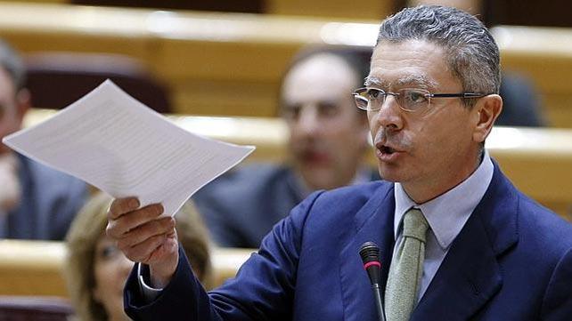 El ministro de Justicia Alberto Ruíz-Gallardón