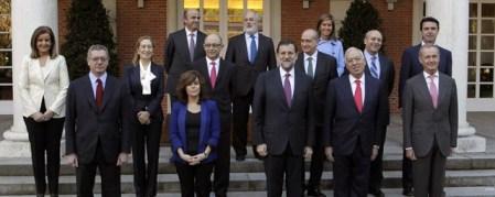 Rajoy y sus ministros... hasta ahora. EFE