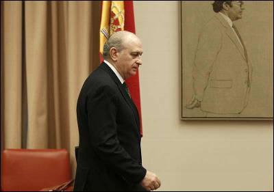 El ministro del Interior, Jorge Fernández Díaz, en la comisión de Interior.PACO CAMPOS / EFE