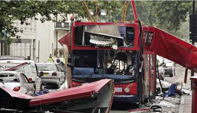 Imagen de los atentados de Londres, perpetrados por yihadistas el 7 de julio de 2005.