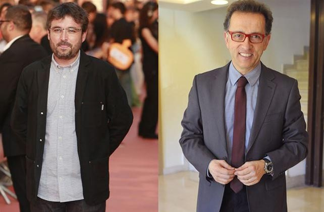 Jordi Évole y su primo, Jordi Hurtado.