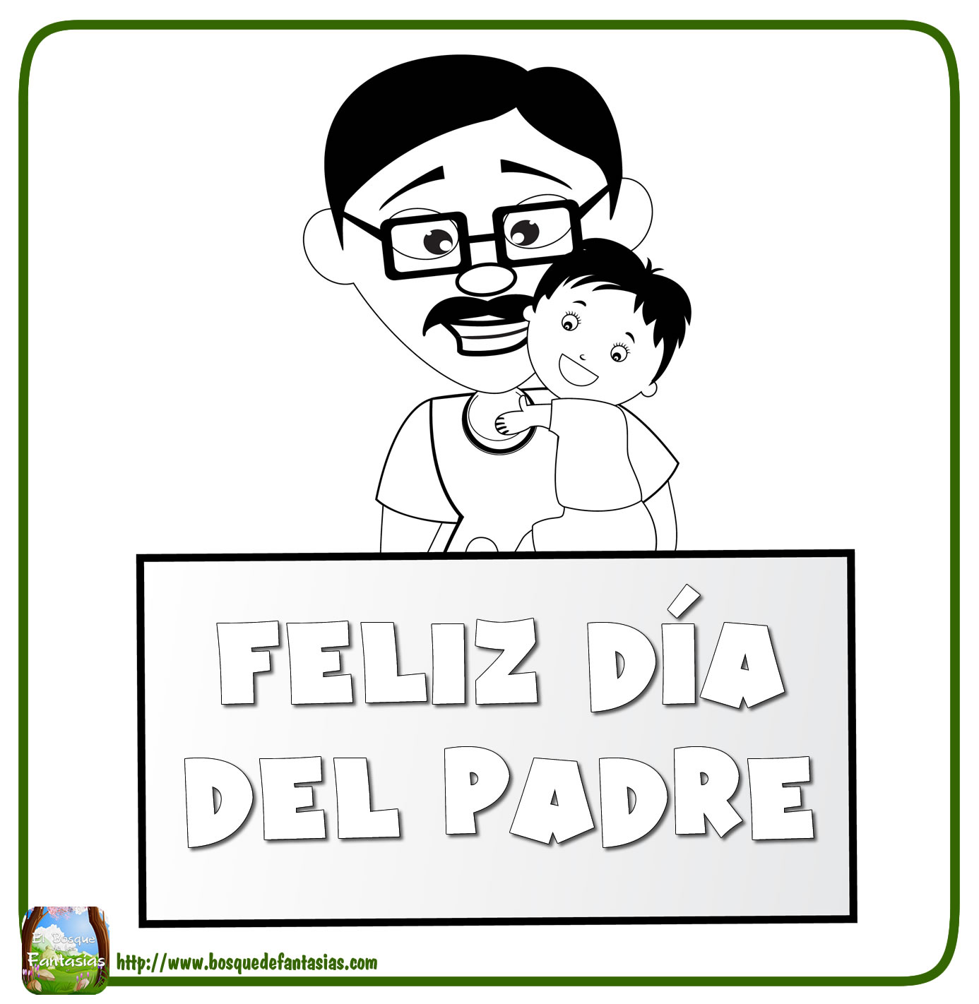 Dibujos Del Dia Del Padre Imagenes Para Colorear Y Pintar