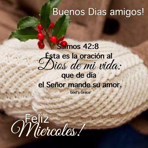 Imágenes con Frases Cristianas Feliz Miércoles Bendecido