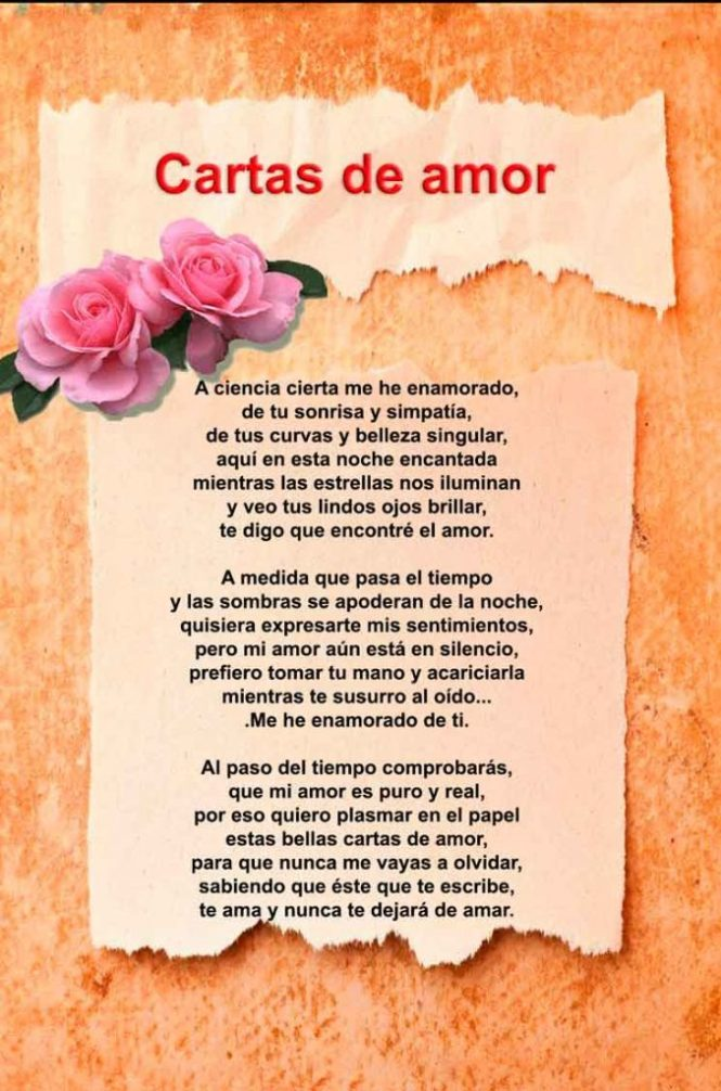 Bonitas Cartas De Amor Para Mi Novia Para Llorar Largas