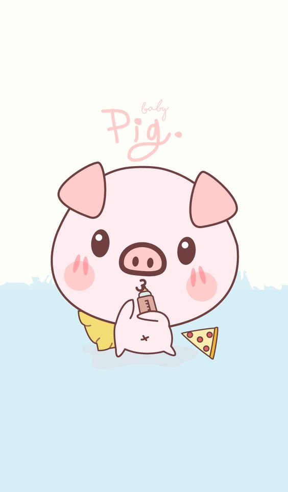 Wallpapers Fondos de Pantalla Cerditos Tiernos Kawaii