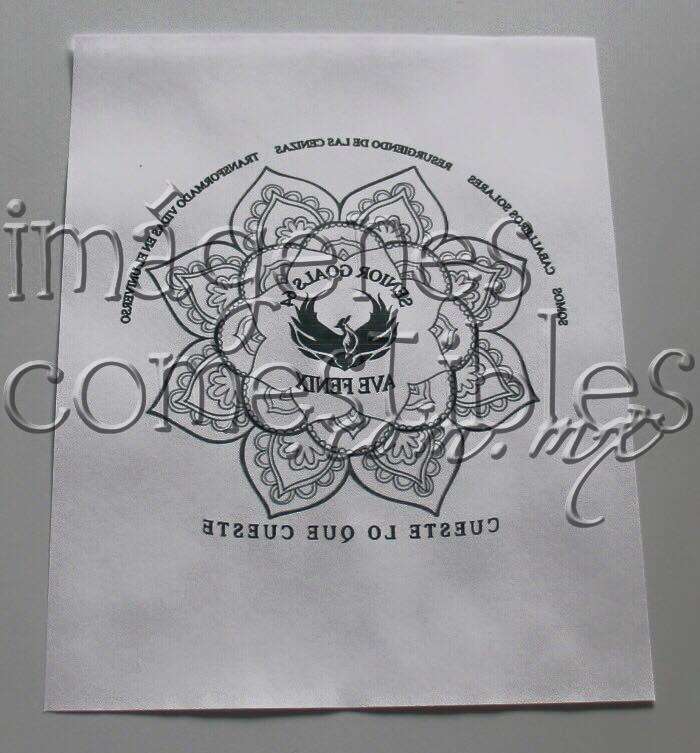 Impresión circular con imagen comestible