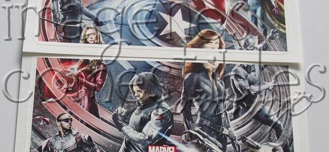 Hojas de oblea tipo póster con imagen comestible de Civil War