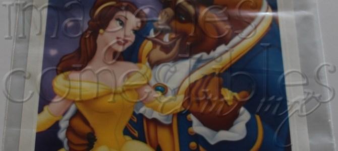Hoja de oblea con imagen de La Bella y La Bestia