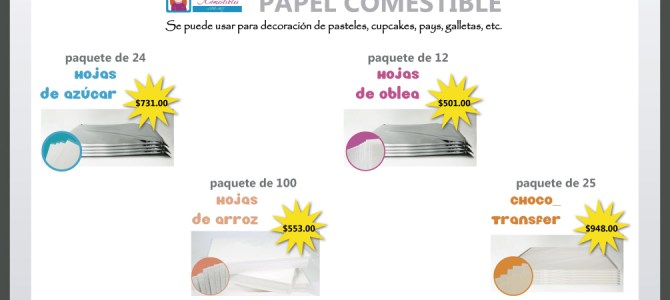 Venta de papel comestible por paquete
