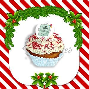 Contenedor navideño merengues