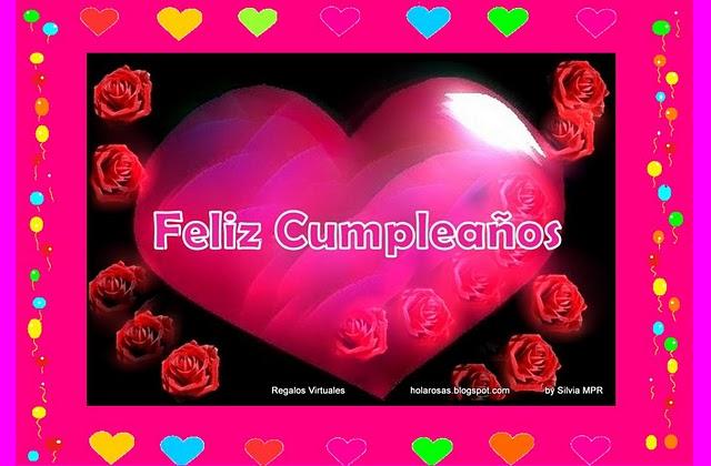 Feliz cumpleaños con corazones
