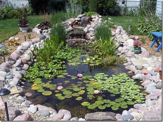 Como diseñar y crear un estanque para tu jardin