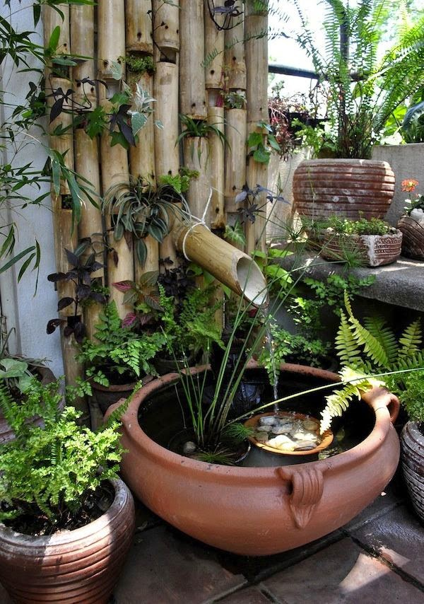 Pequeños Jardines Con Estanques de Agua