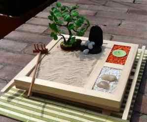 Imagenes de un jardin zen en miniatura