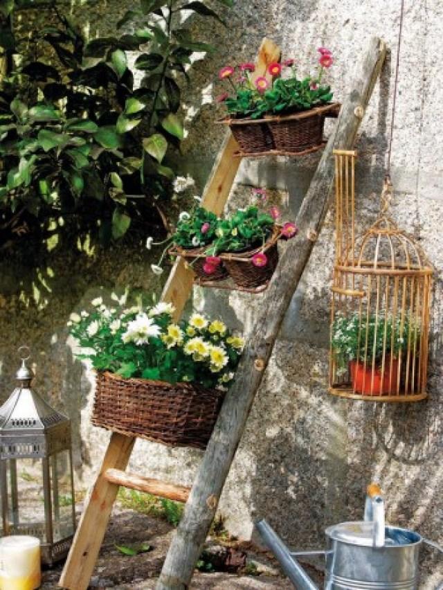 Imagenes de ideas para realizar un jardin vertical casero