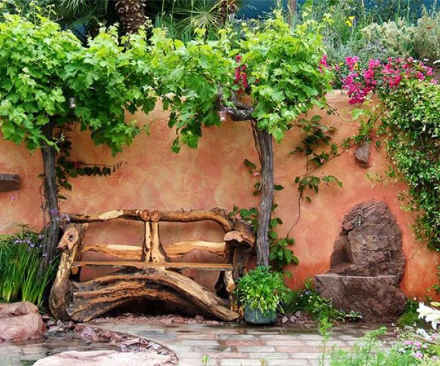 Imagenes de jardines con decoracion rustica