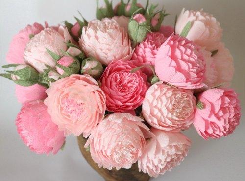 Lindo ramo de flores rosadas