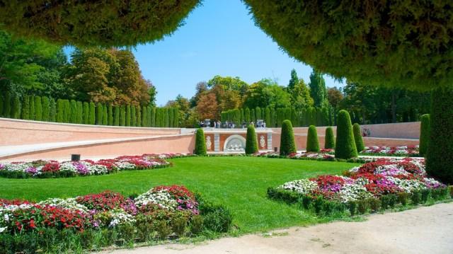Parque del retiro Imagenes jardines con flores