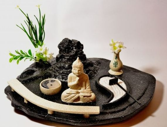 imagenes de un jardin zen en miniatura. Black Bedroom Furniture Sets. Home Design Ideas