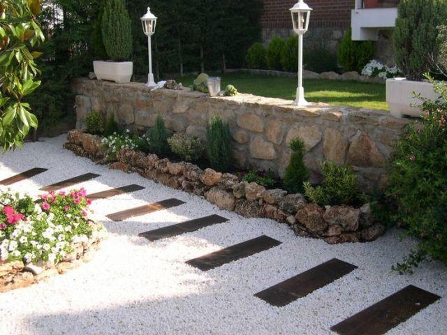 imagenes de jardineras hechas con piedra
