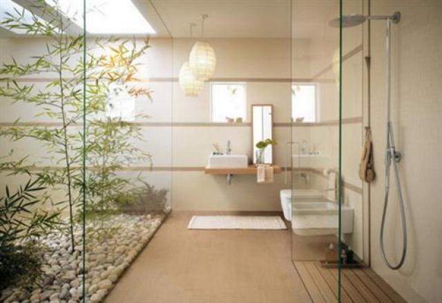 Diseños de baños con jardines