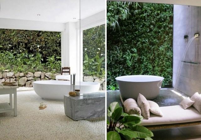 Imagenes con ideas de decoracion de jardines para el baño