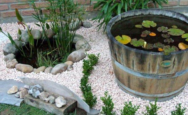 Imagenes Barriles reciclados para decorar el jardin