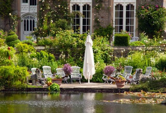 Imagenes del Espacio de encuentro en el jardin Gresgarth Hall