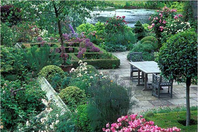 Imagenes del Jardin Gresgarth Hall diseño de jardines
