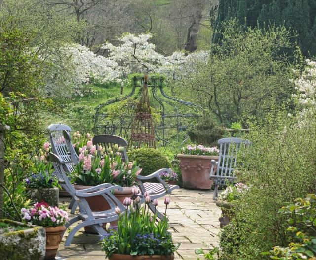 Imagenes del Jardin Gresgarth Hall espacios de relajacion y disfrute del jardin