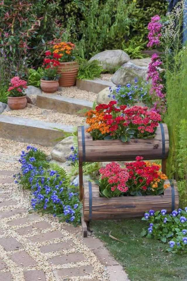 Fotos con ideas de decoracion para jardines con flores - Ideas para jardines pequenos fotos ...