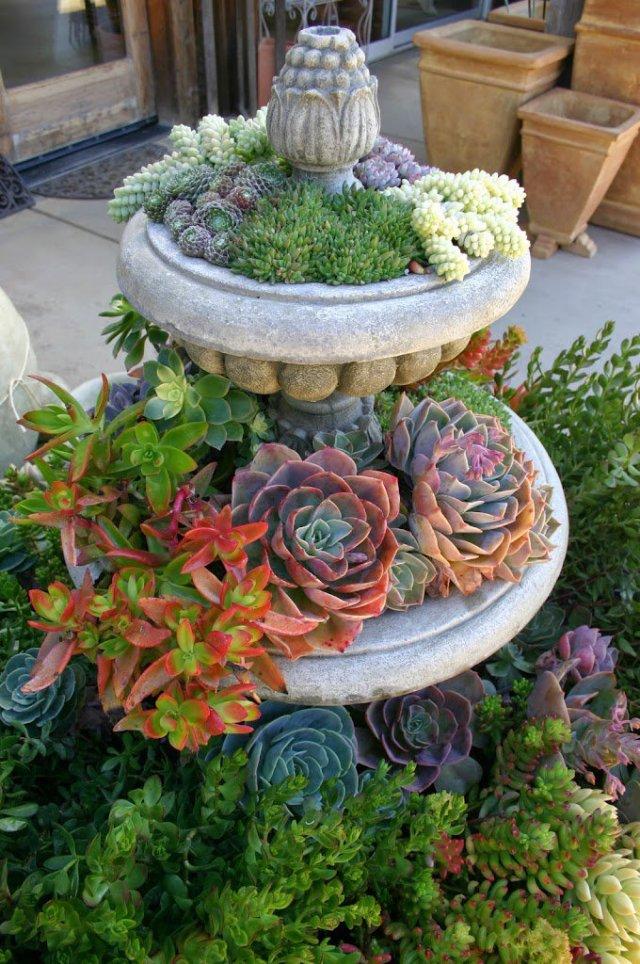 Elementos reciclados para decorar el jardin con plantas