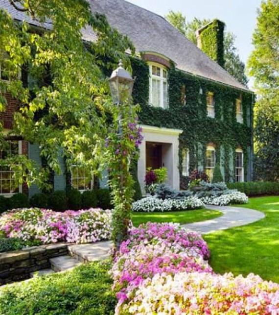 Fotos de casas grandes con jardin