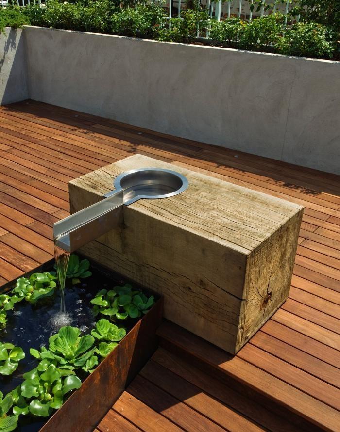 Imagenes con ideas para decorar tu jard n con fuentes de agua - Fuentes modernas para jardin ...