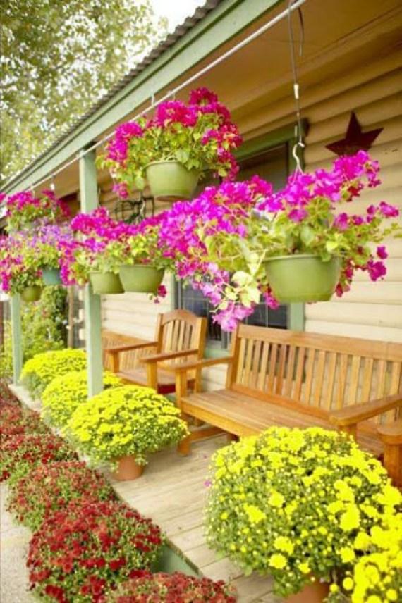 Imagenes de casas con jardines y flores